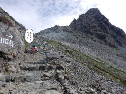 よく整備された槍ヶ岳山荘手前の急登3