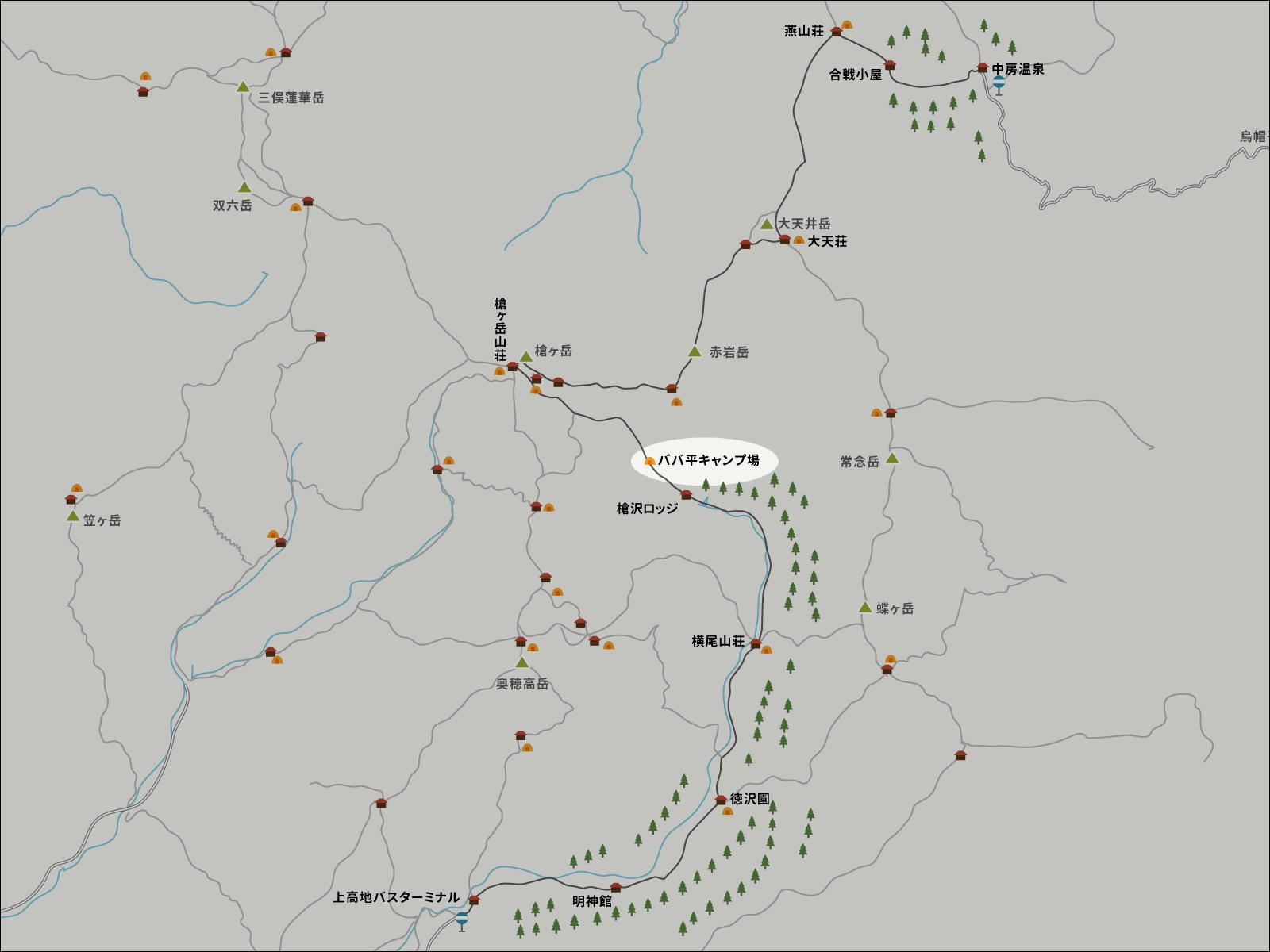 ババ平のイラストマップ