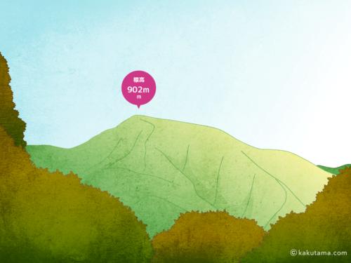 日の出山のイラスト