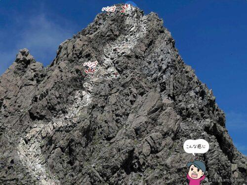 槍ヶ岳はこのルートで登った