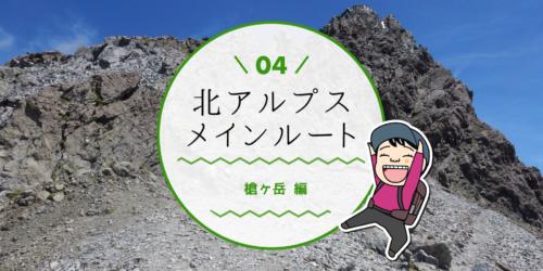 北アルプスメインルートをテント泊槍ヶ岳登山のタイトル画面
