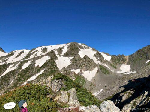 青空と山2