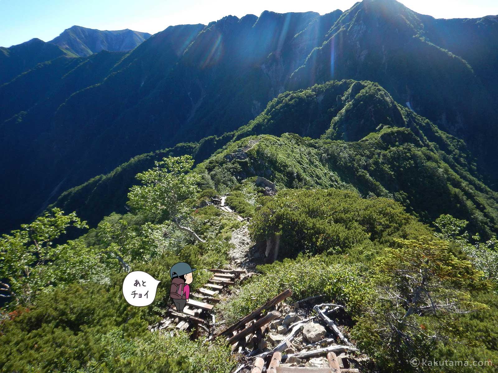 稜線歩きが楽しい