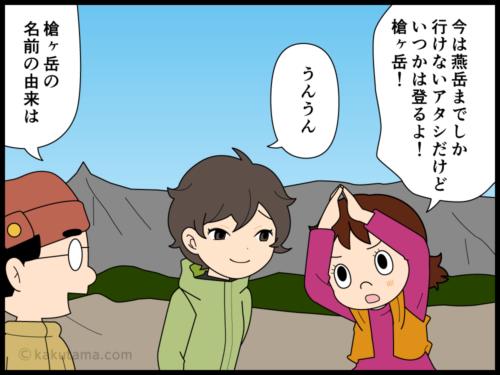 山の名前由来槍ヶ岳にまつわる漫画1