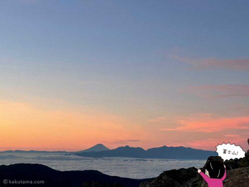 槍ヶ岳山荘から富士山も見える