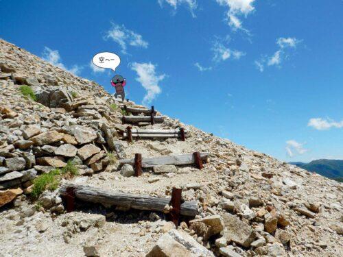 大天荘へ向かっての登り1