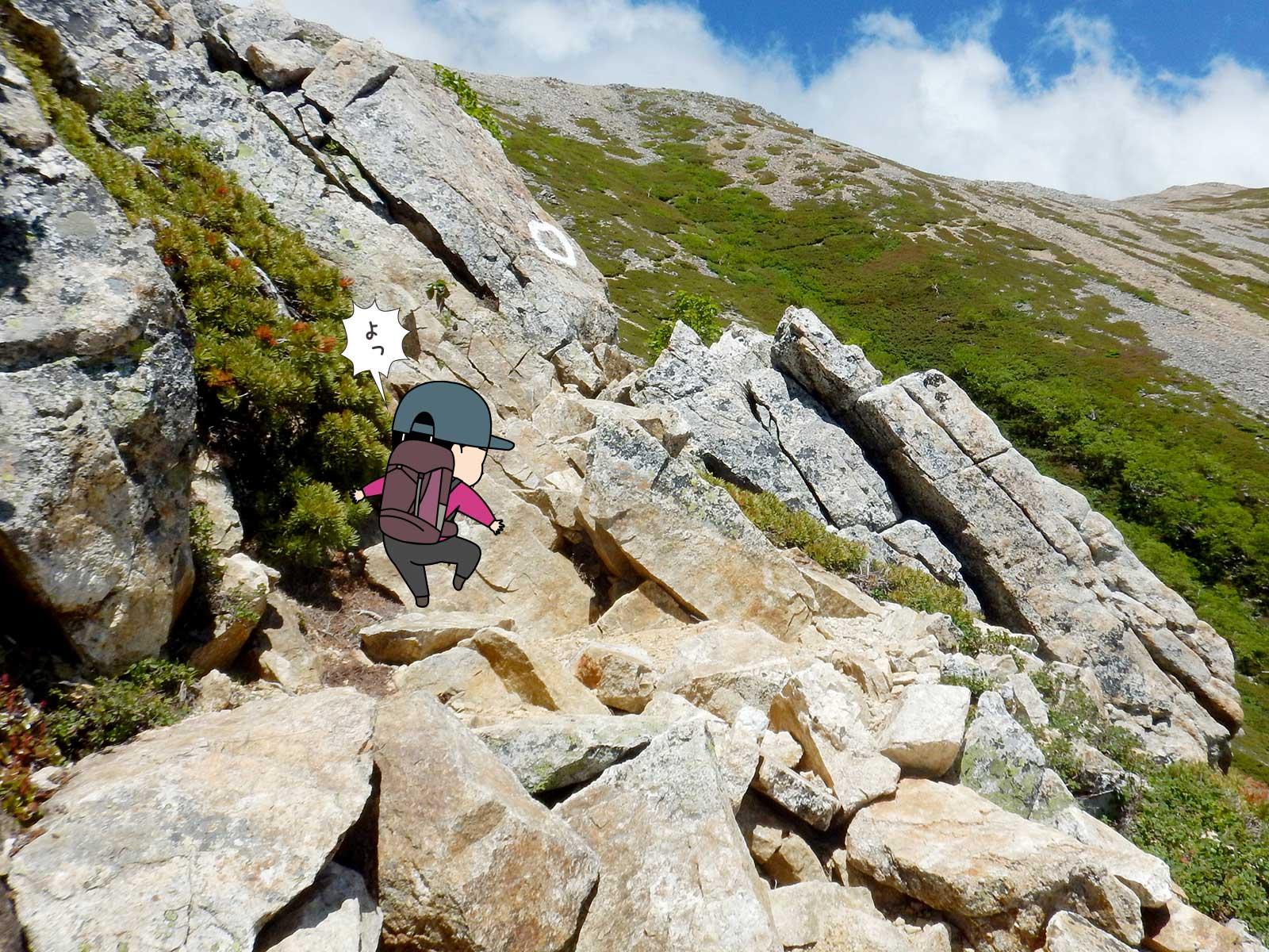 大天荘へ向かっての登り6
