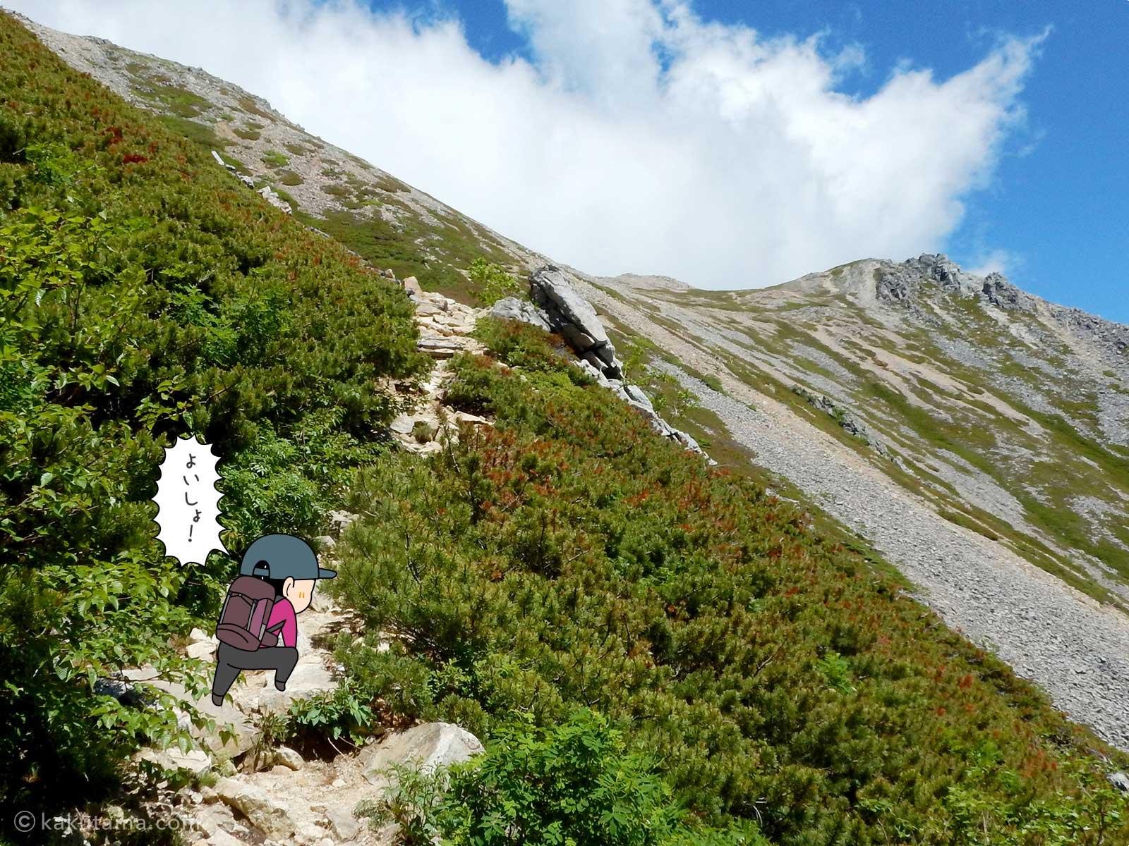 大天荘へ向かっての登り9