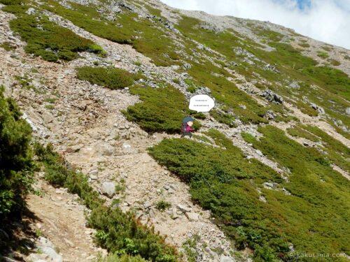 大天荘へ向かっての登り10