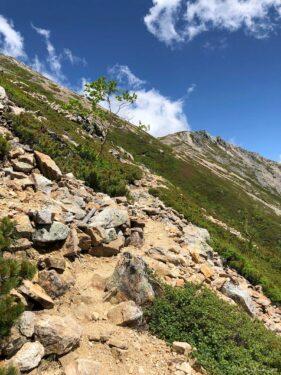 大天荘へ向かっての登り11