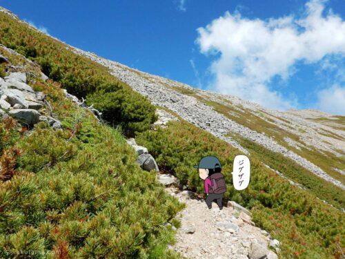 大天荘へ向かっての登り14