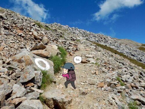 大天荘へ向かっての登り16