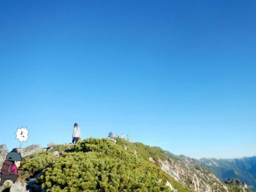 大天井岳を目指す2