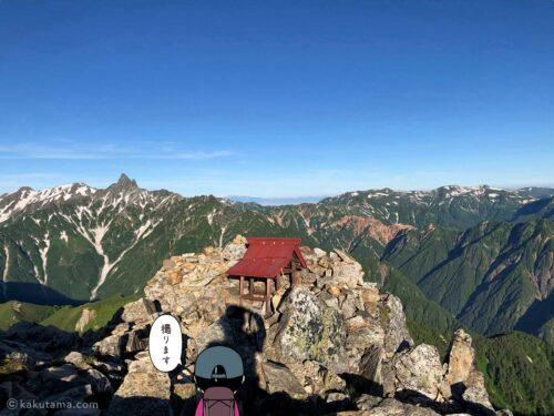 大天井岳の祠