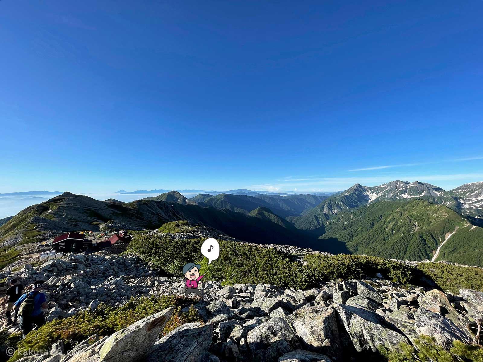 大天荘から大天井岳への登り1