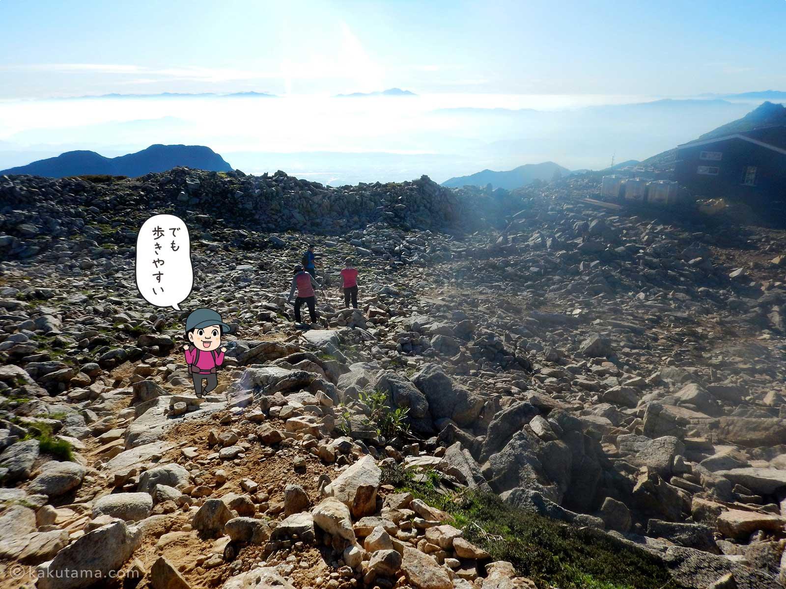 大天荘から大天井岳への登り2