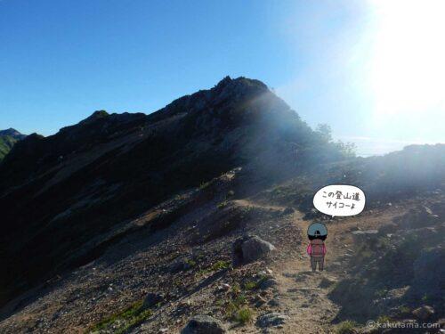 大天井岳直下の気持ちの良い登山道2