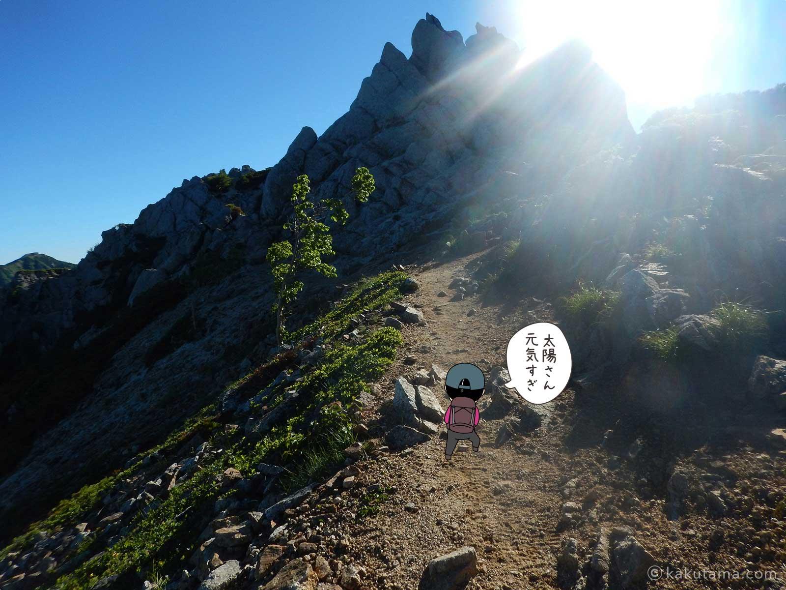 大天井岳直下の気持ちの良い登山道3