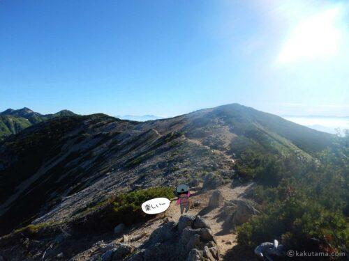 大天井岳直下の気持ちの良い登山道5