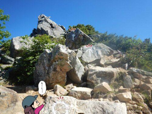 蛙岩の道標