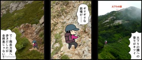 燕岳と常念岳の分岐点でどちらへ行くか迷う漫画2