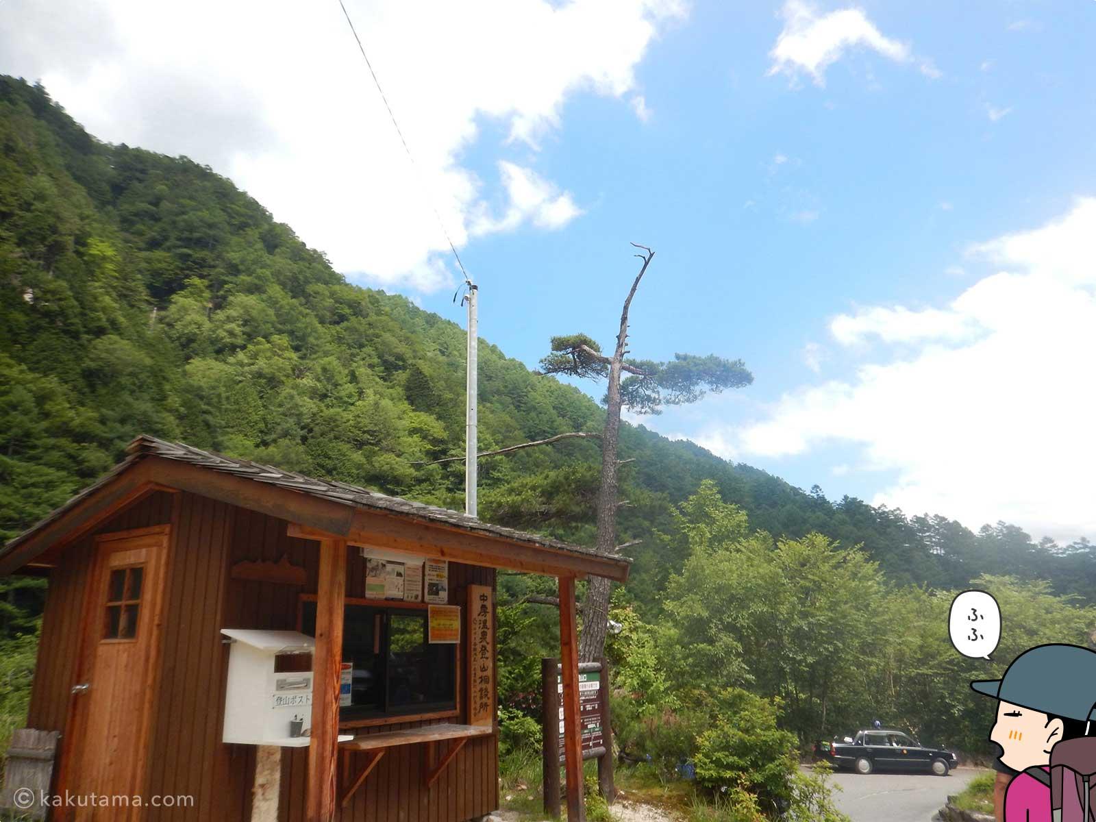 中房温泉の登山相談所