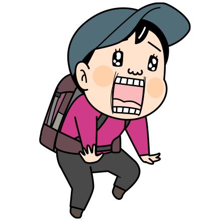 笑顔の登山者のイラストt